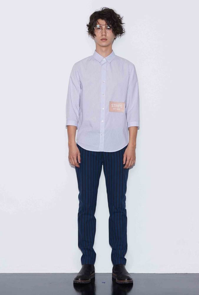 [80% OFF]'STRIPE' PATCH SHIRT(WHITE)