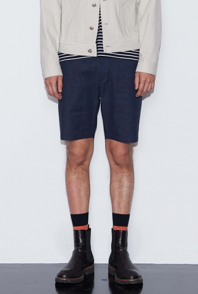 DENIM SHORT PANTS(NAVY)