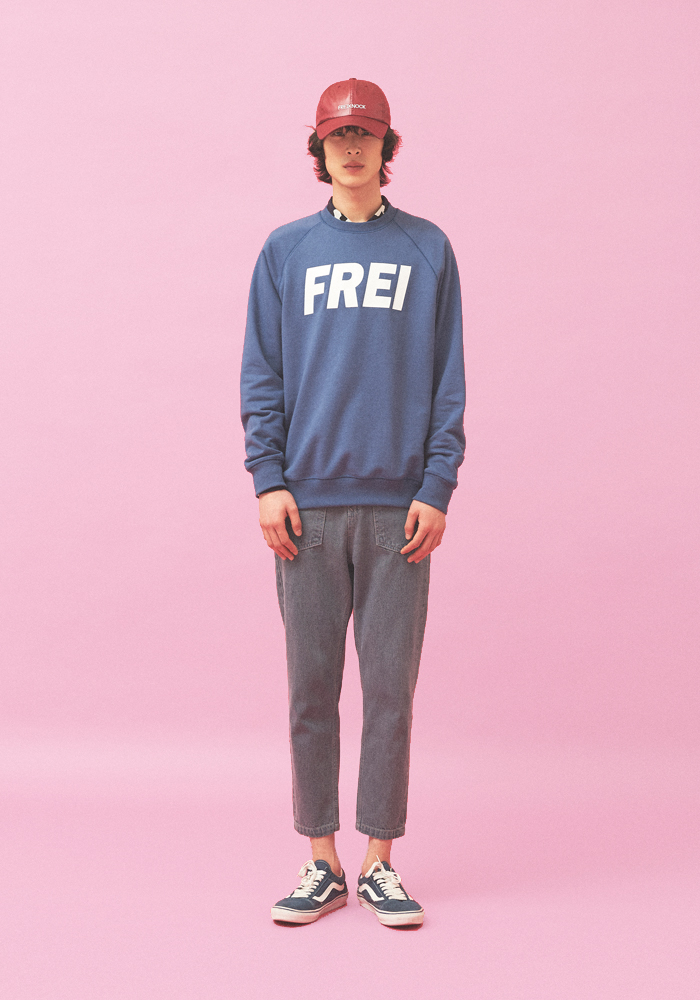 BIG LOGO SWEATSHIRT(BLUE)