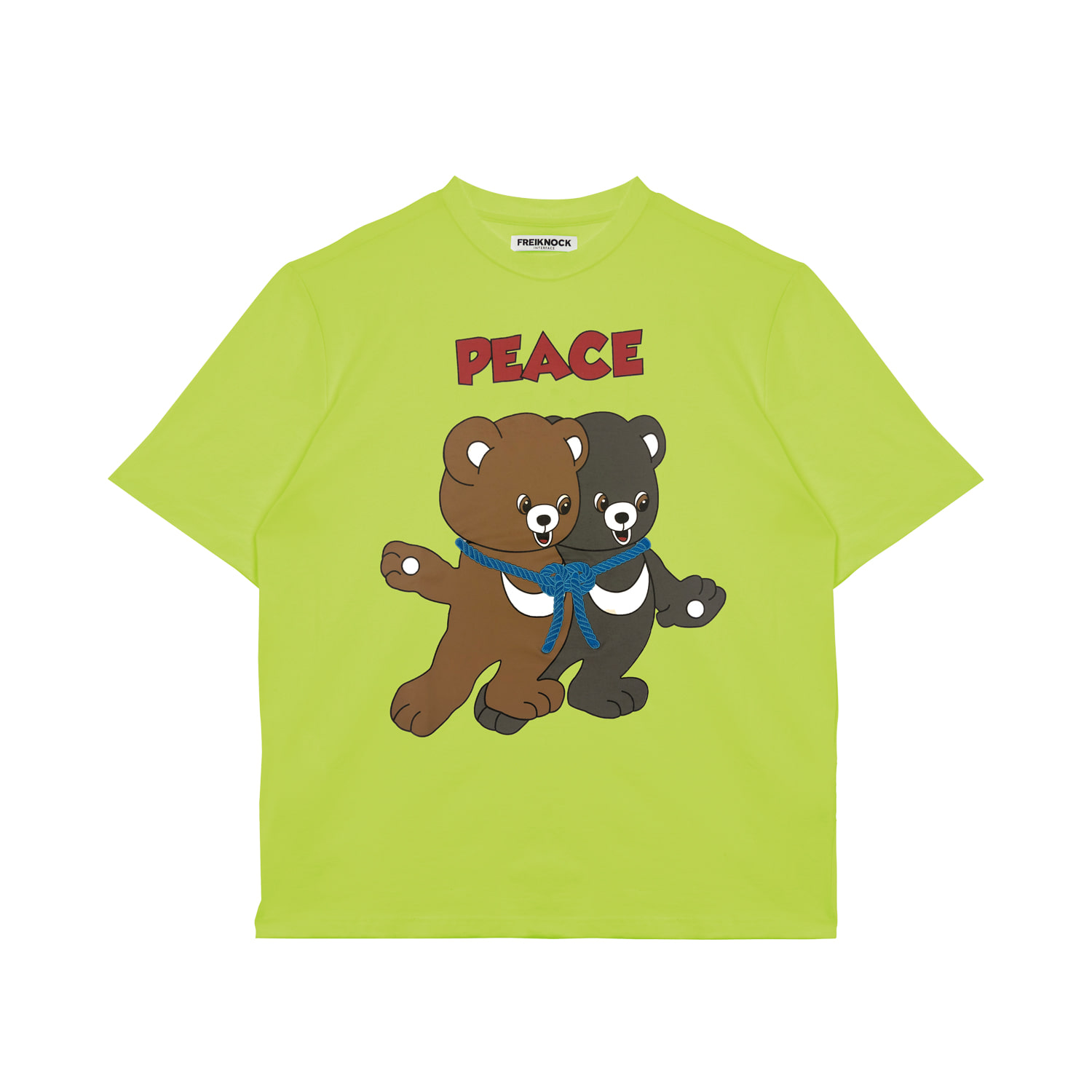 PEACE BEAR T-SHIRT(NEON GREEN)