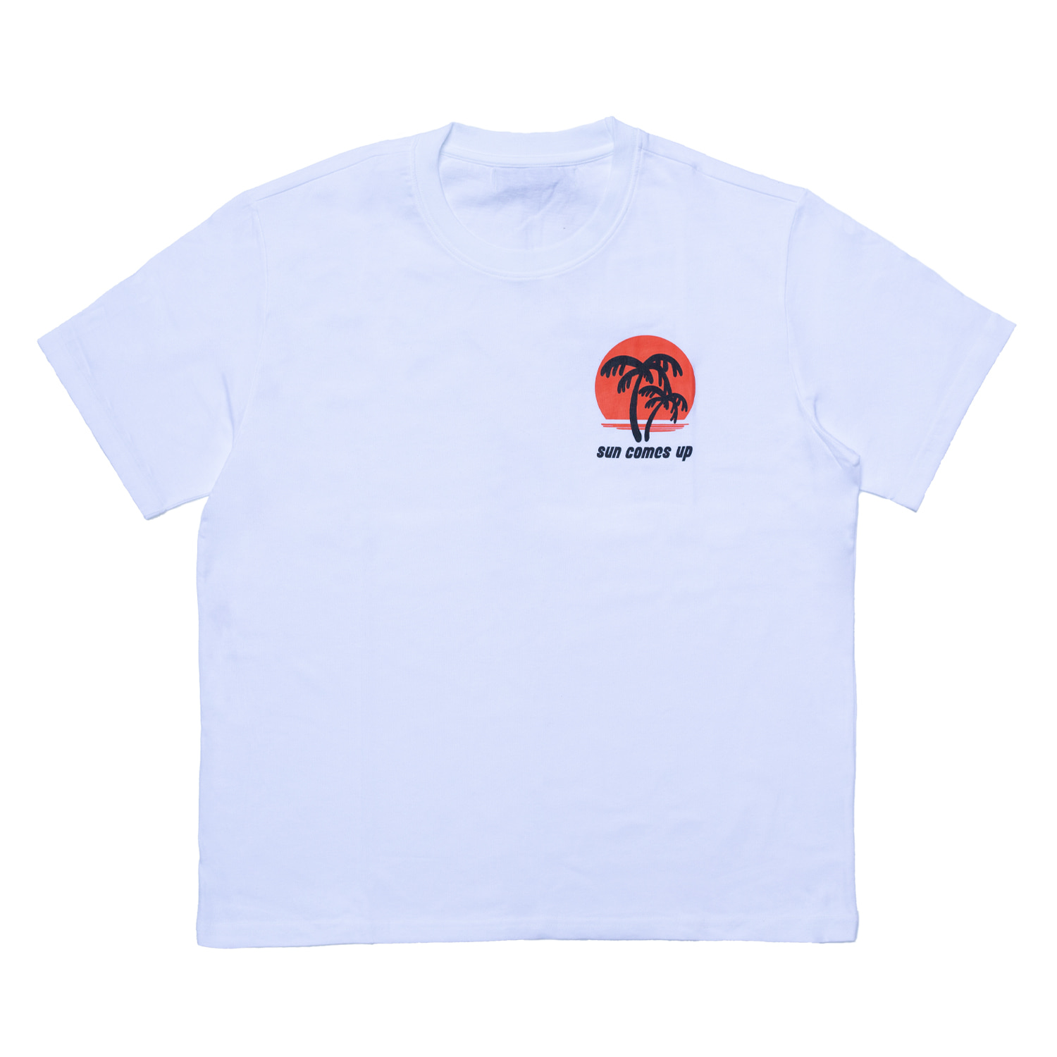 SUNSET PRINTED T-SHIRT(WHITE)