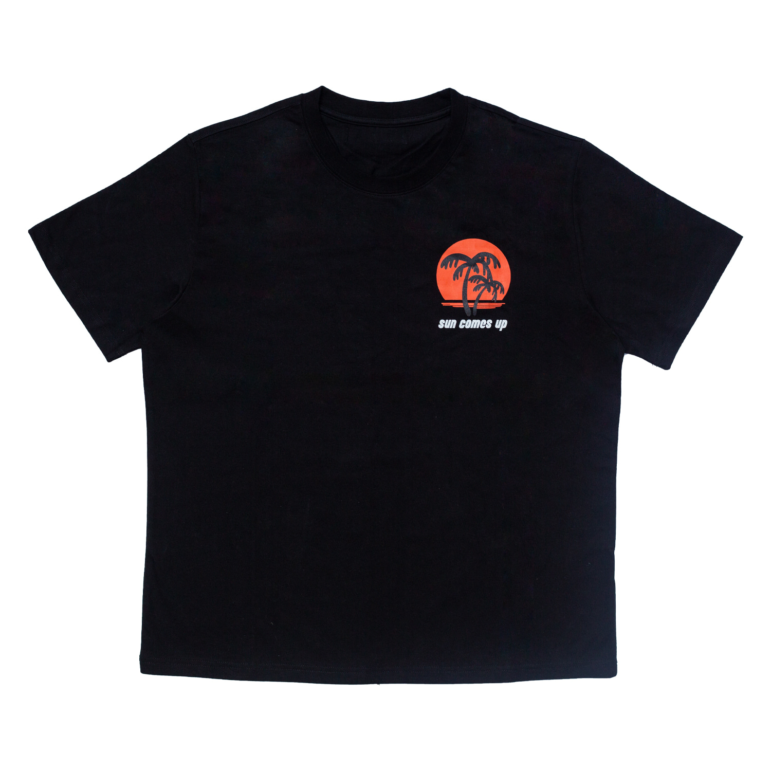 SUNSET PRINTED T-SHIRT(BLACK)