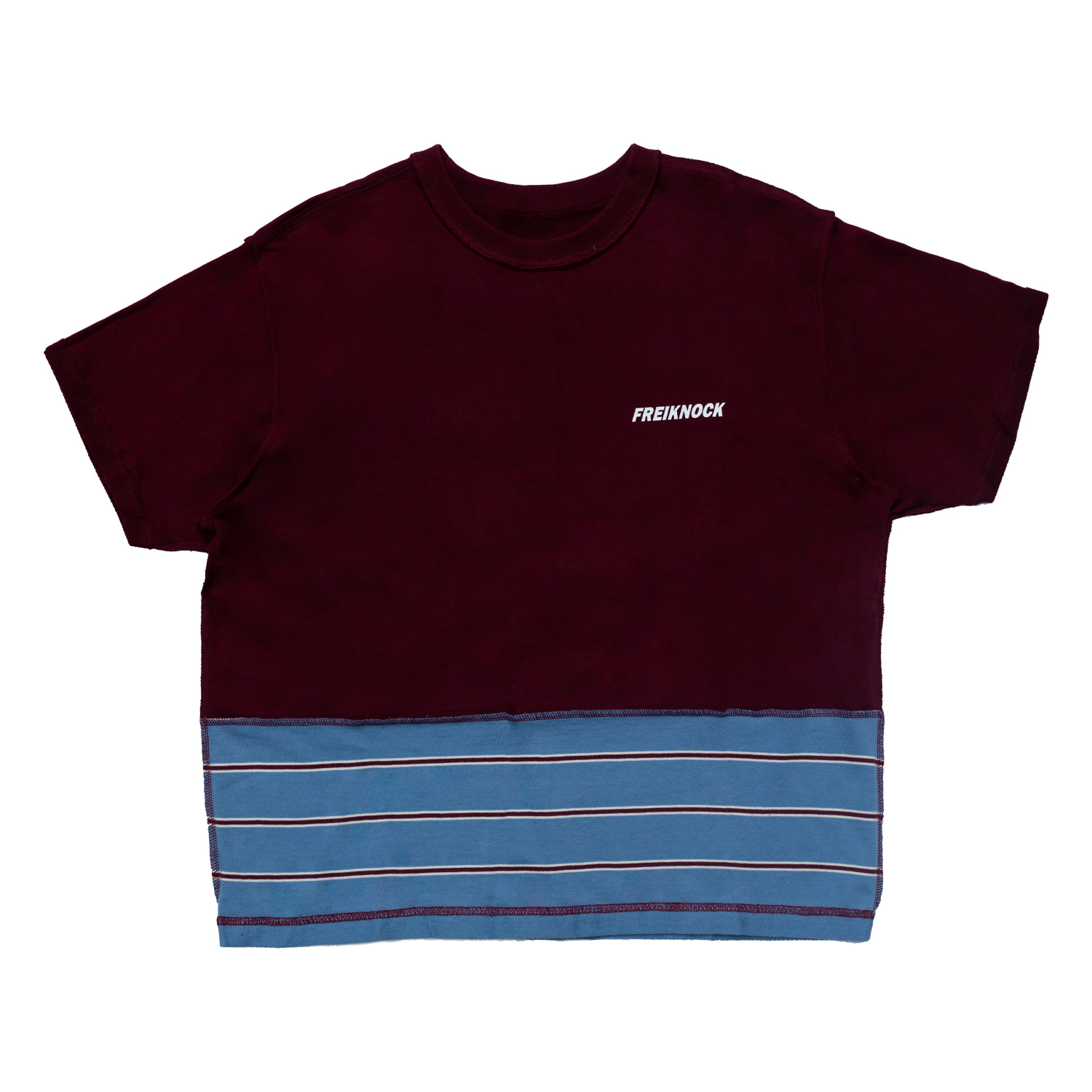 INSIDE-OUT TSHIRT(BURGUNDY)
