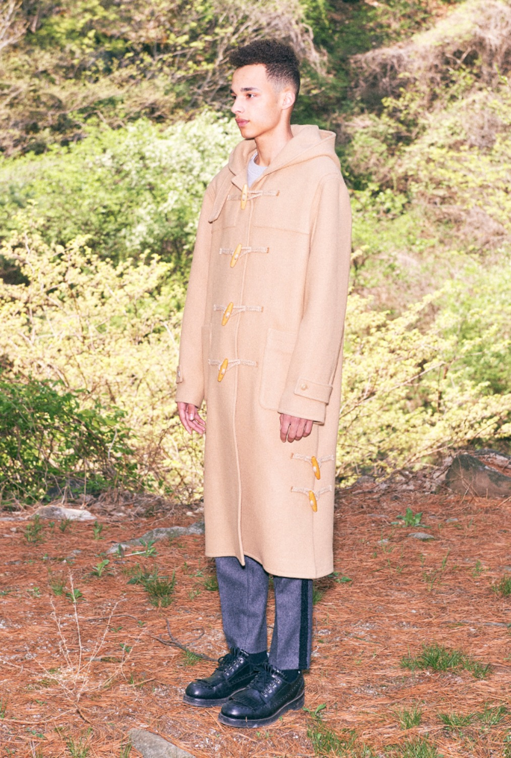 HOODED DUFFLE LONG COAT(BEIGE)
