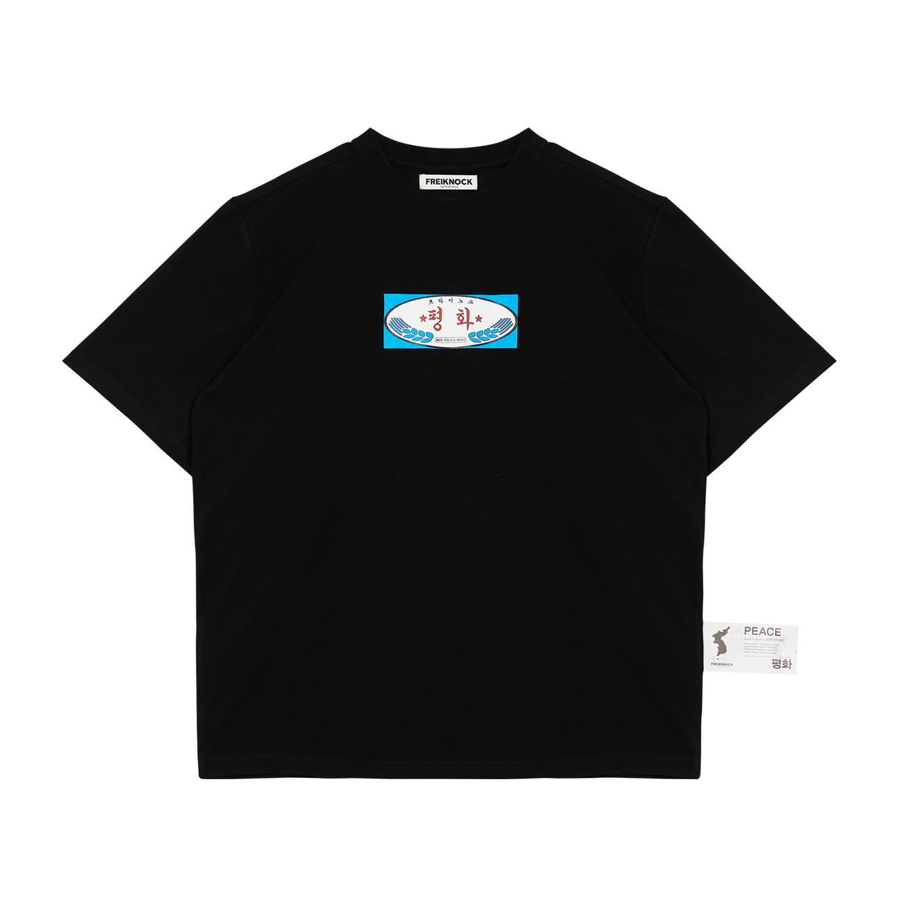 [30% OFF]PEACE T-SHIRT(BLACK)