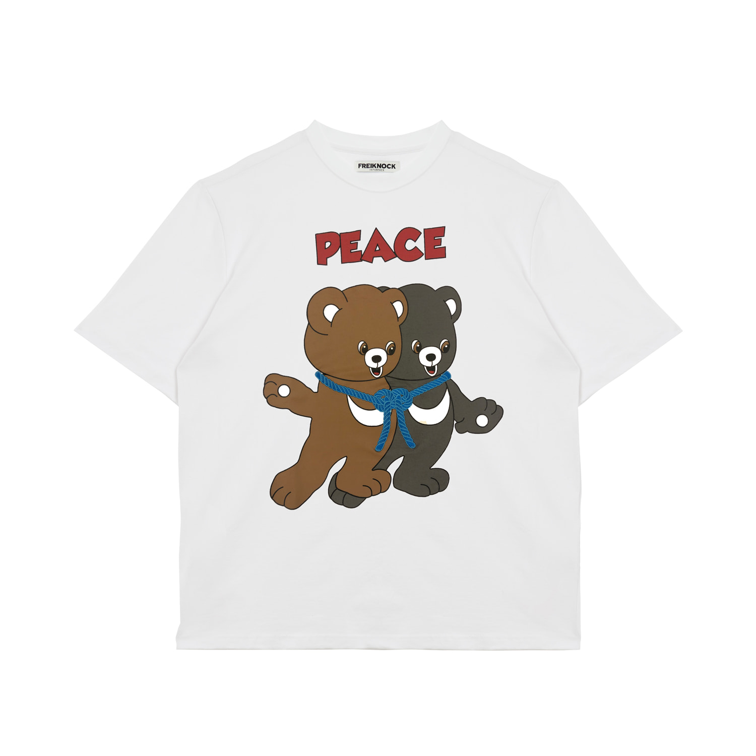 [30% OFF]PEACE BEAR T-SHIRT(WHITE)